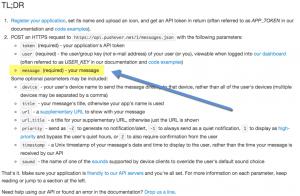 Pushover API